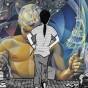 Die junge Küstlerin steht vor einem Ausschnitt von Renaus Wandbild