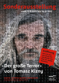 Ausstellungsplakat »Der große Terror« (Grafik: Sandra Bach)