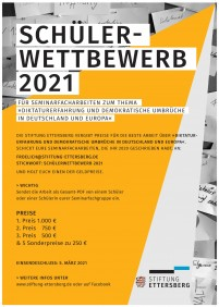 Plakat zum ›Schülerwettbewerb‹ 2021 (Grafik: Anita Grabovac)