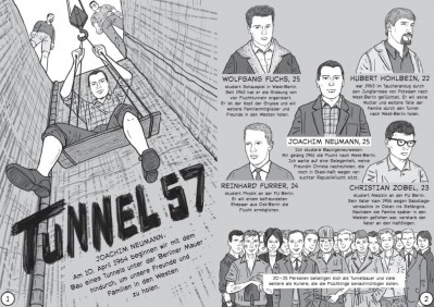 Comicausstellung »Tunnel 57. Geschichte im Untergrund«